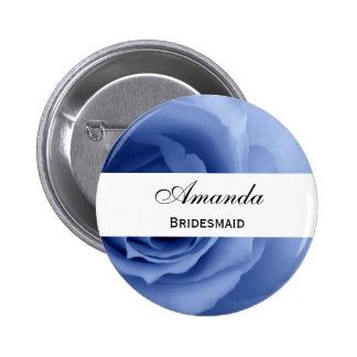 Dreamy Blue Rose Premium Wedding Collection 6 Cm Round Badge