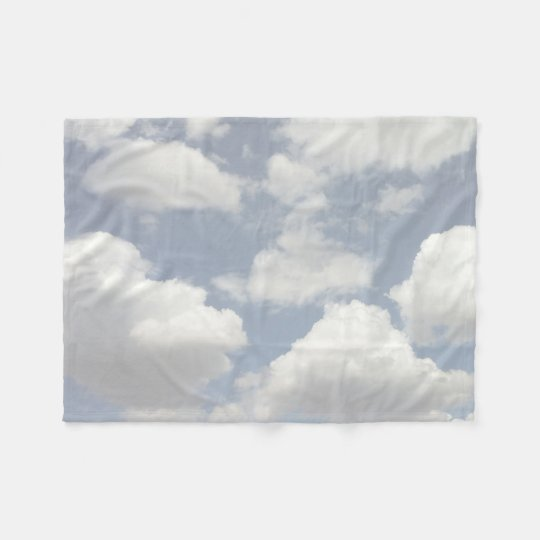 Dreamy Blue Sky with Puffy White Clouds Fleece