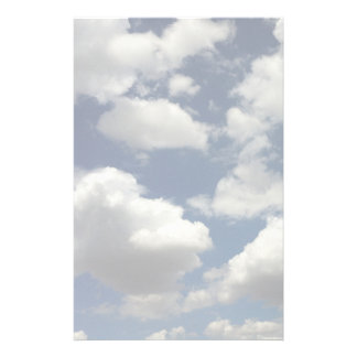 Dreamy Blue Sky with Puffy White Clouds Stationery