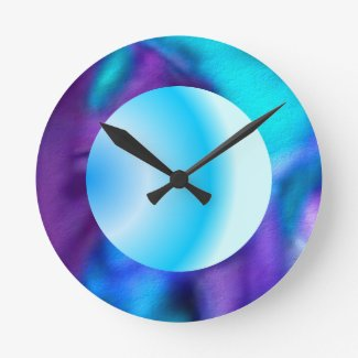 Dreamy blue wall clock