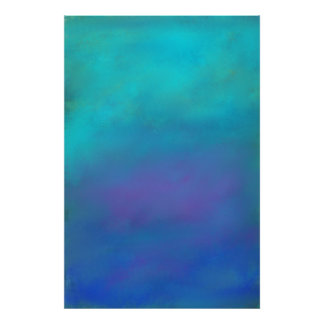 Dreamy Blues Abstract Design Poster