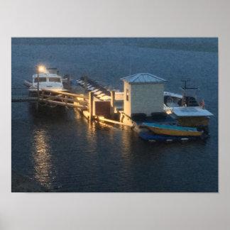 Dreamy Boats @ Dusk 4Wayne Poster