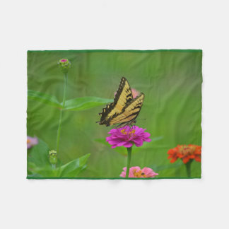 Dreamy Butterfly Summer Fleece Blanket