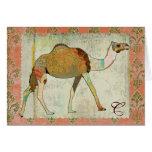 Dreamy Camel Monogram Notecard