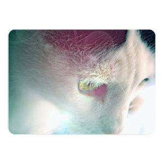 Dreamy Cat Portrait 13 Cm X 18 Cm Invitation Card