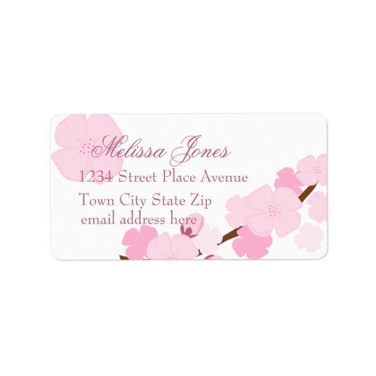 Dreamy Cherry Blossom Address Label