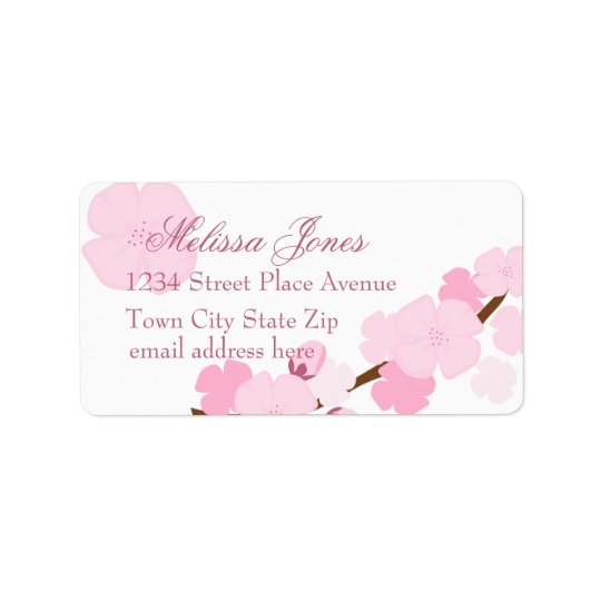 Dreamy Cherry Blossom Label