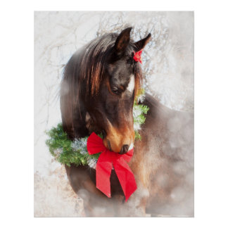 Dreamy Christmas Horse Poster