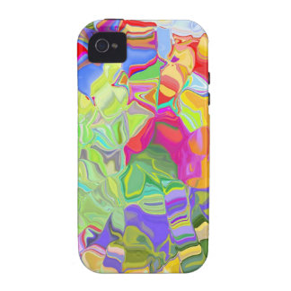 Dreamy Colorful Abstract Vibe iPhone 4 Cases