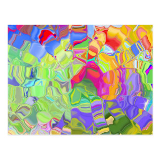 Dreamy Colorful Abstract Postcard