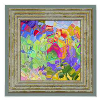 Dreamy Colorful Abstract Poster