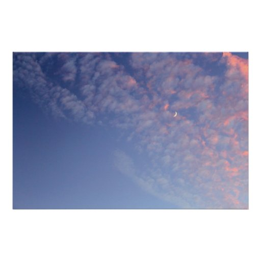 Dreamy Crescent Moon Poster