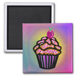 Dreamy Cupcake Square Magnet