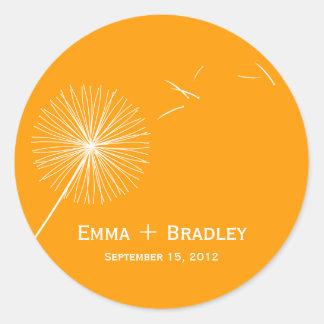 Dreamy Dandelion Favor Sticker - Orange Spice