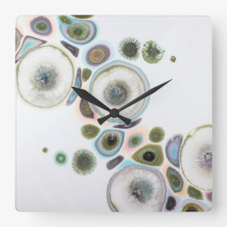 Dreamy Dandelion Pastel Square Wall Clock