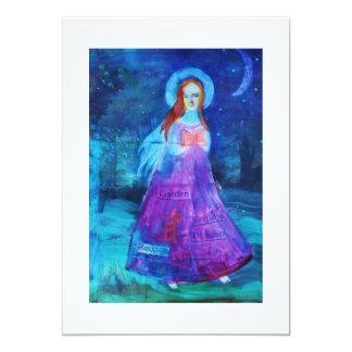 Dreamy  Ethereal Angel 13 Cm X 18 Cm Invitation Card