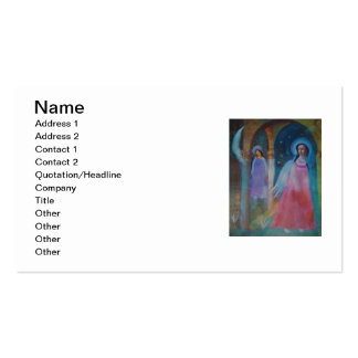 Dreamy  Ethereal Renaissance Angels Business Card Template