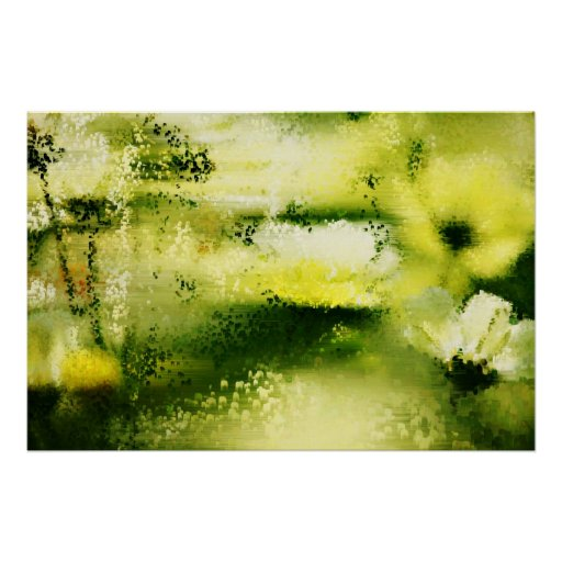 Dreamy Flowers In The Rain  - Painting Art Posters