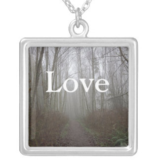 Dreamy Forest LOVE Instagram Necklace