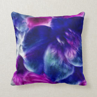 Dreamy Fractal Abstract Floral Throw Cushion
