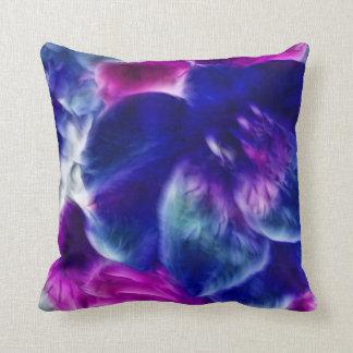 Dreamy Fractal Abstract Floral Throw Cushion