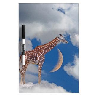 Dreamy Giraffe Dry Erase Board