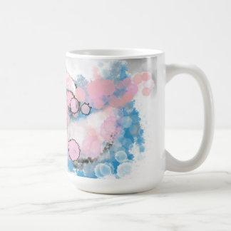 Dreamy grey, pink, and blue mug