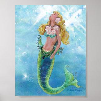 Dreamy Mermaid Poster