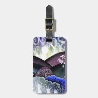 Dreamy Moonlit Landscape Luggage Tag
