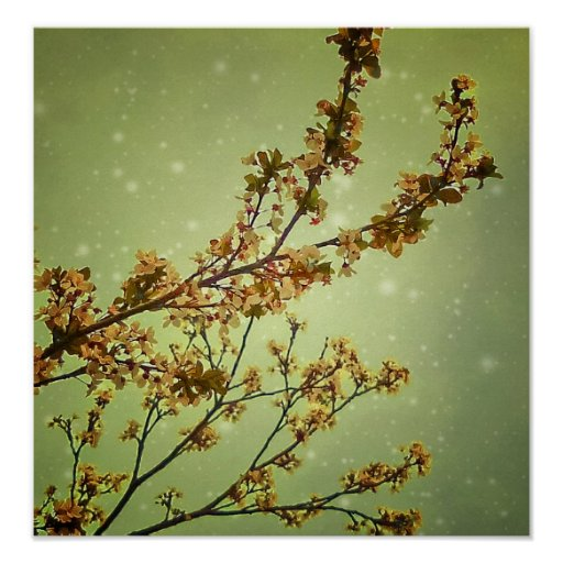 Dreamy Nature Motif Background Posters