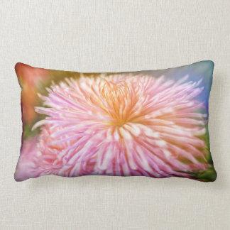 Dreamy pink Chrysanthemum flower Pillow