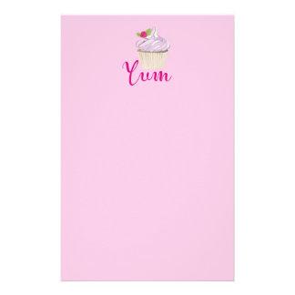 Dreamy Pink Cupcake with Raspberry Yum! Stationery