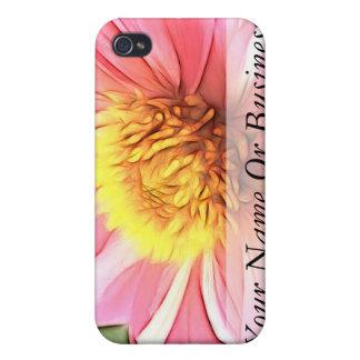 Dreamy Pink Dahlia iPhone 4/4S Case