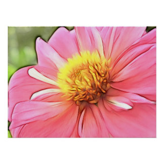 Dreamy Pink Dahlia Poster