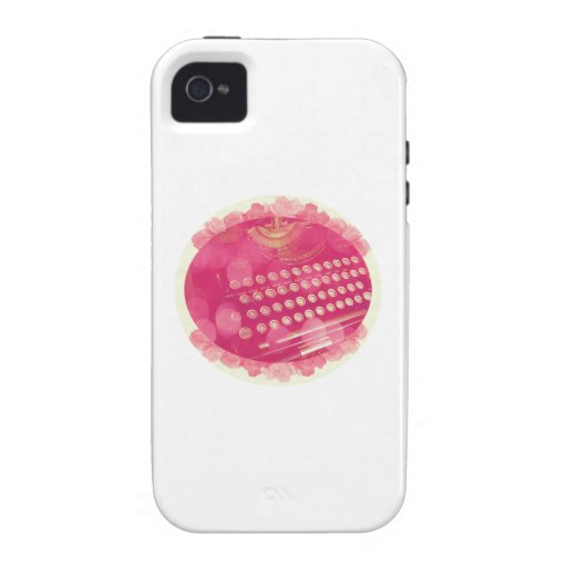 Dreamy Pink Typewriter Case For The iPhone 4