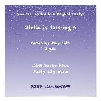 Dreamy Purple Personalized Invitation