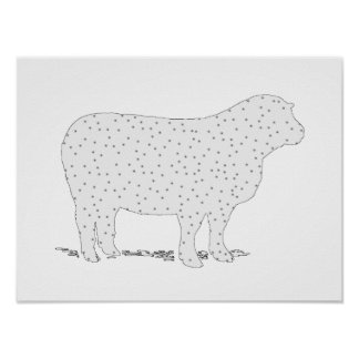 Dreamy Sheep Poster