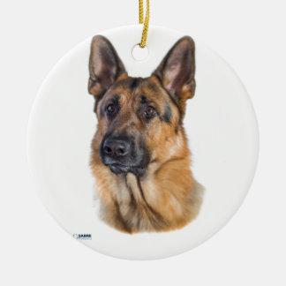 Dreamy Shepherd Dog Round Ceramic Decoration