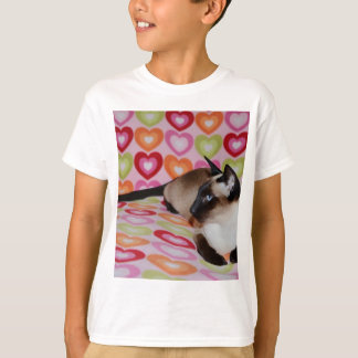 Dreamy Siamese Cat Hearts T-Shirt
