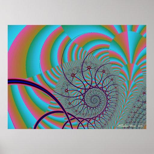 Dreamy Spiral Poster