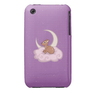 Dreamy Star Spotted Fawn In The Clouds Art iPhone 3 Cover
