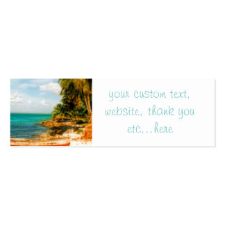 Dreamy Tropical Beach Business Card Templates