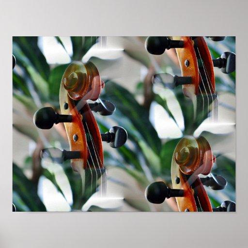 Dreamy Violin Scroll Poster