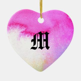 Dreamy Watercolor Ceramic Heart Decoration