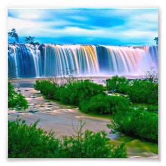 Dreamy Waterfall Landscape Photo
