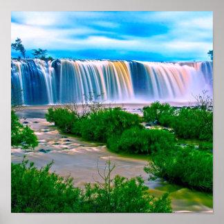 Dreamy Waterfall Landscape Print