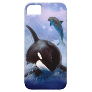Dreamy whale and dolphins iPhone 5 cover