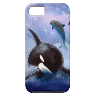 Dreamy Whale and dolphins play iPhone 5 Cases