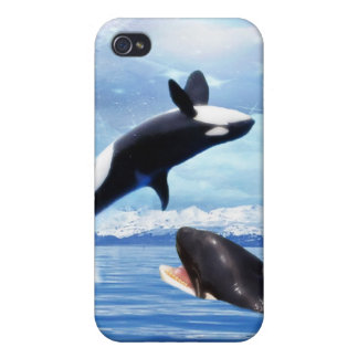 Dreamy Whales enjoying the ocean iPhone 4/4S Cases
