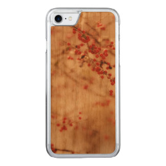 Dreamy Winter Garden Red Berries Artisan Carved iPhone 7 Case